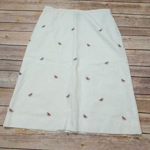 346 Brooks Brothers Embroidered Watermelon Skirt
